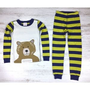 Hanna Andersson Pajamas Size 8 Striped Bear Unisex